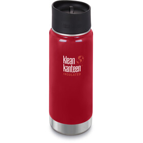 Klean Kanteen Wide Vacuum Insulated Drinkfles Café Cap 2.0 473ml rood